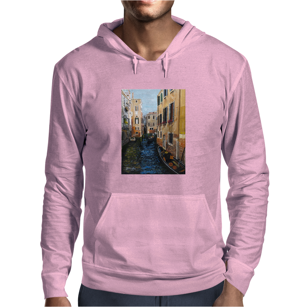 Remembering Venice - Canvas Painting Mens Hoodie