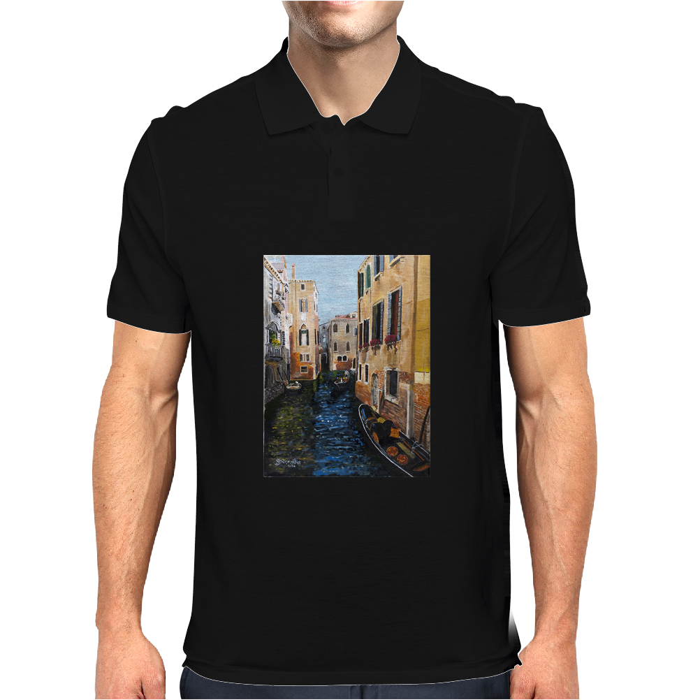 Remembering Venice - Canvas Painting Mens Polo