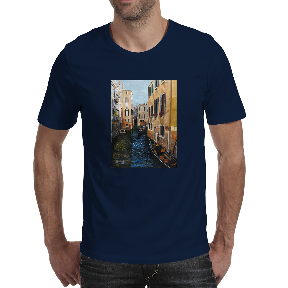 Remembering Venice - Canvas Painting Mens T-Shirt
