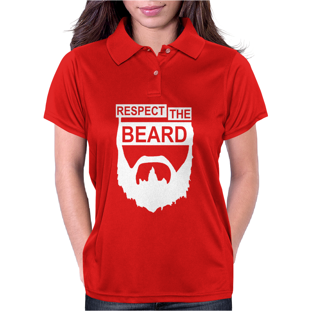 RESPECT THE BEARD. Womens Polo