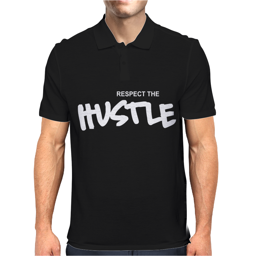Respect The Hustle Mens Polo