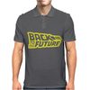 Retro Back to the future Mens Polo