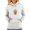 Retro Popcorn Bag Design Womens Hoodie