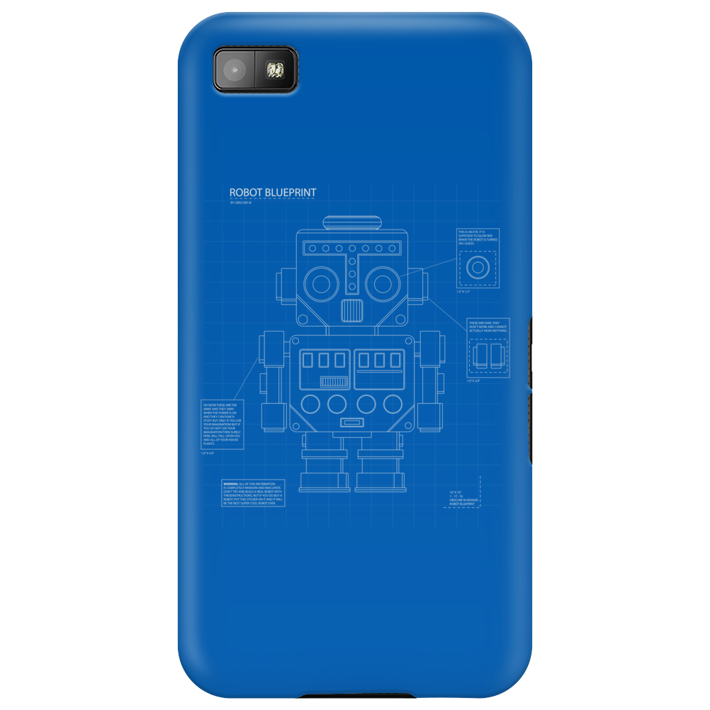 Retro Robot Blueprint Phone Case