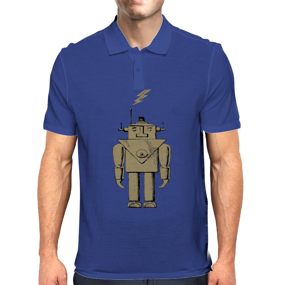 Retro Robot Mens Polo