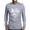 Retro Rooster. Mens Long Sleeve T-Shirt