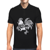 Retro Rooster. Mens Polo