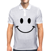 Retro Smiley Face Mens Polo