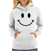 Retro Smiley Face Womens Hoodie