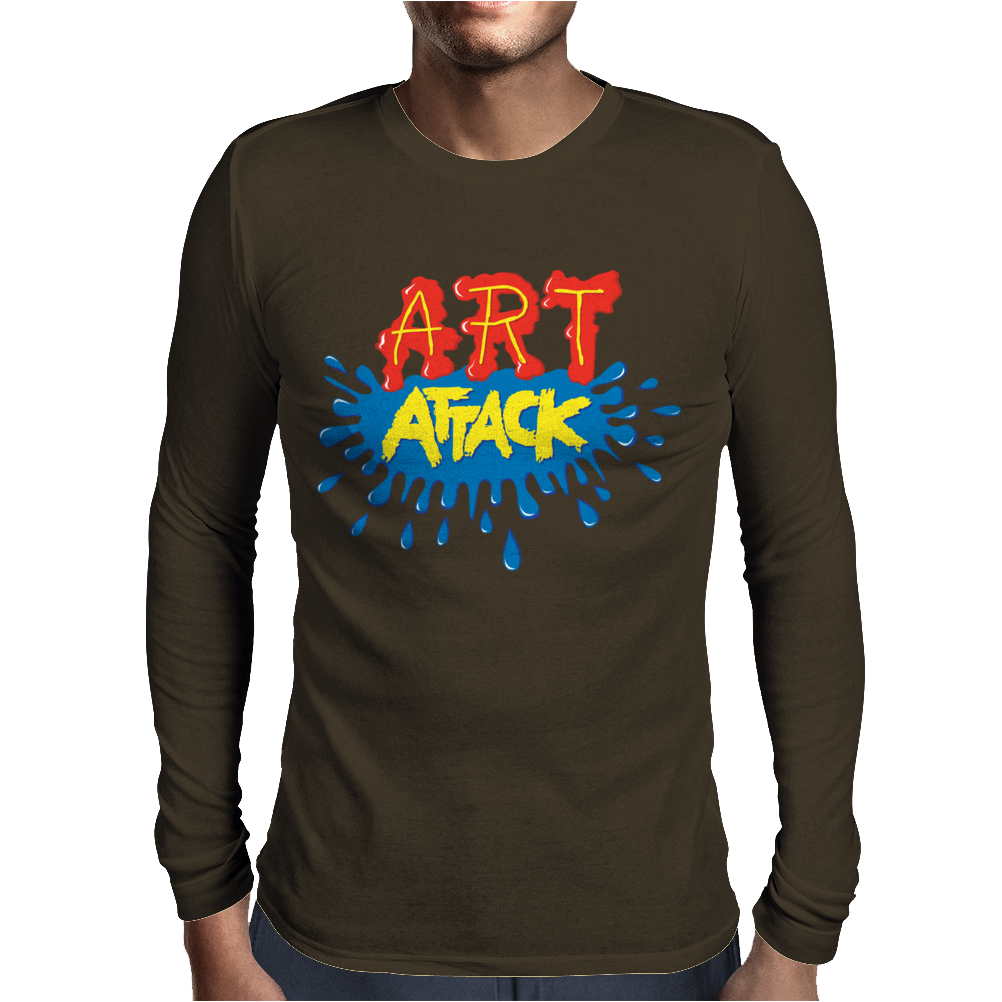 Retro Tv Show Unofficial Art Attack Mens Long Sleeve T-Shirt