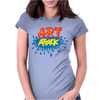 Retro Tv Show Unofficial Art Attack Womens Fitted T-Shirt