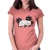 Retro van camper bus 1962 Womens Fitted T-Shirt
