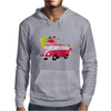 Retro van with colorful splashes Mens Hoodie