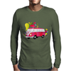 Retro van with colorful splashes Mens Long Sleeve T-Shirt