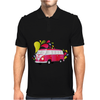 Retro van with colorful splashes Mens Polo