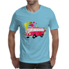 Retro van with colorful splashes Mens T-Shirt