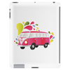 Retro van with colorful splashes Tablet
