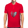 Rib Cage Heart Mens Polo