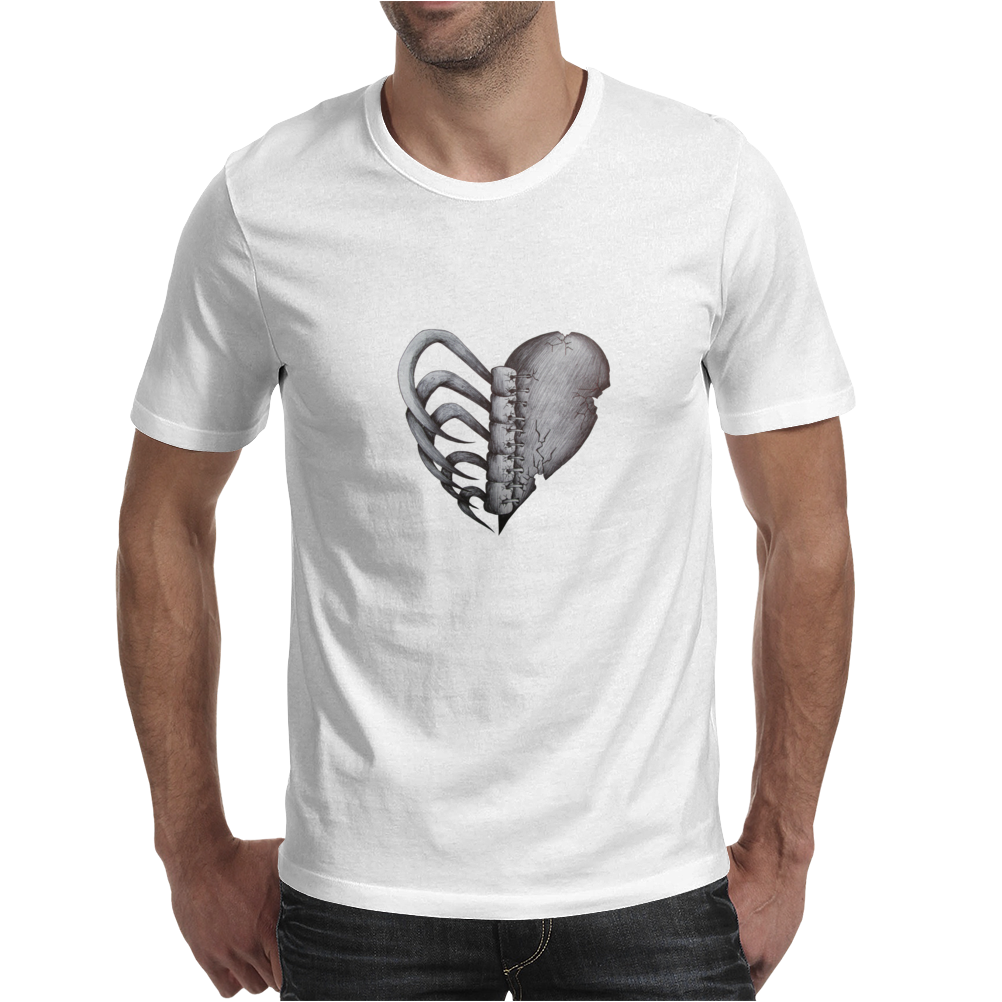 Rib Cage Heart Mens T-Shirt