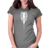 Ribcage Rock Zipper Rib Cage Skeleton Womens Fitted T-Shirt