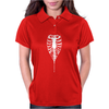Ribcage Rock Zipper Rib Cage Skeleton Womens Polo