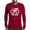 Ride Like The Wind White Mens Long Sleeve T-Shirt