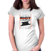 RIOT OR REACTION? Womens Fitted T-Shirt
