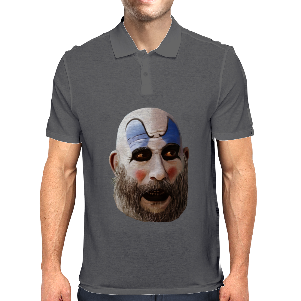 Rob Zombie Horror Movie Scary Captain Spaulding Mens Polo