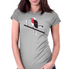 Robin in blue Womens Fitted T-Shirt