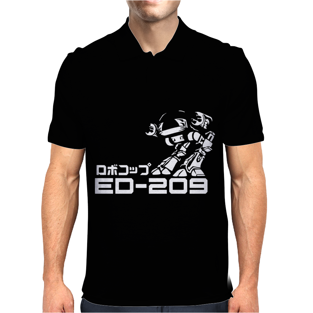 Robocop Inspired ED 209 Mens Polo