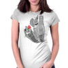 Robot n Rose Womens Fitted T-Shirt