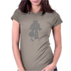 Robot Smashing Womens Fitted T-Shirt