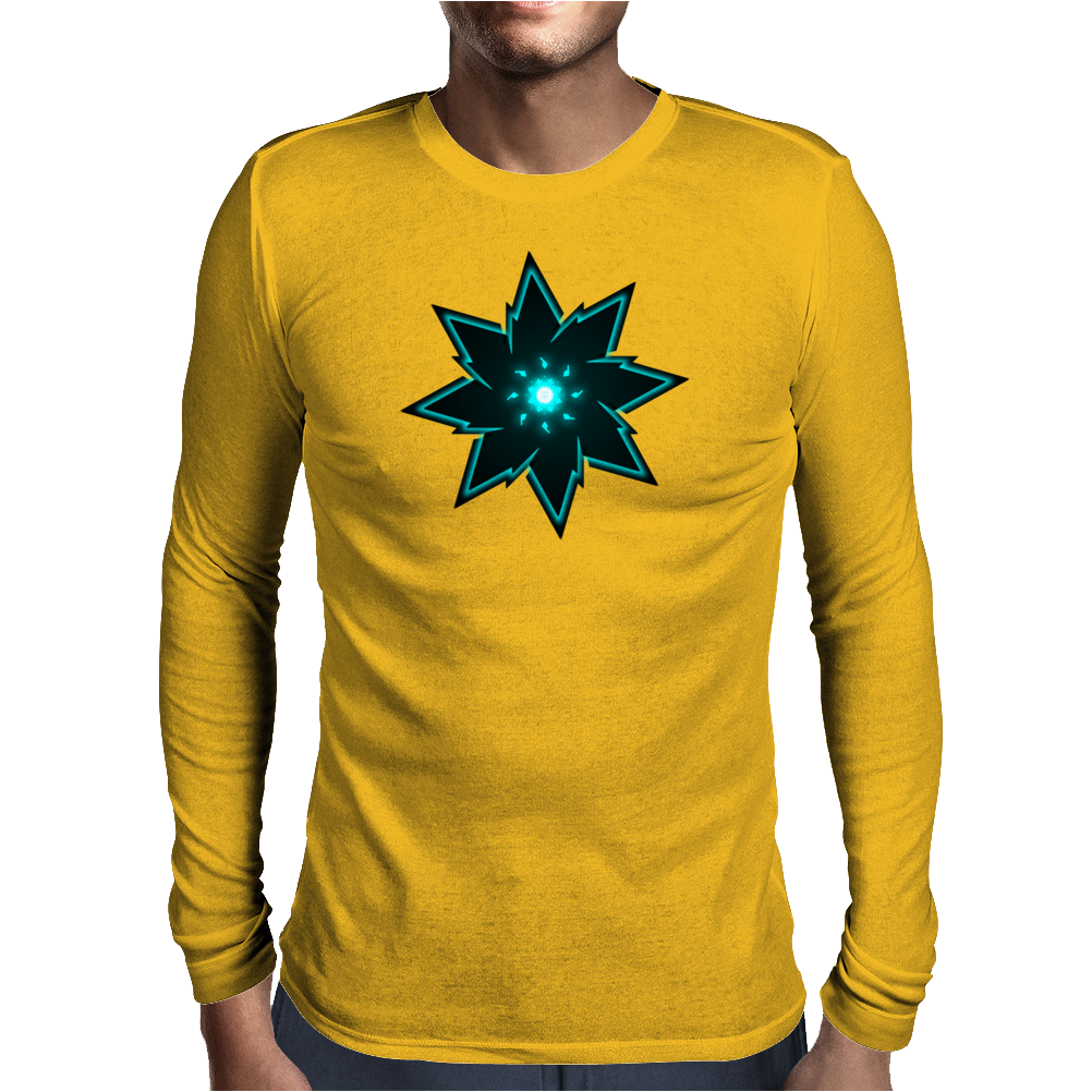 Robotic Heart Mens Long Sleeve T-Shirt