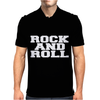 ROCK AND ROLL funny Mens Polo
