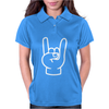 Rock And Roll Throwing Horns. Womens Polo