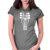 Rock Hand Womens Fitted T-Shirt