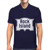 Rock Island Line Railroad Mens Polo