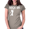 Rock On Mountain Rock Climbing Mountaineering Womens Fitted T-Shirt