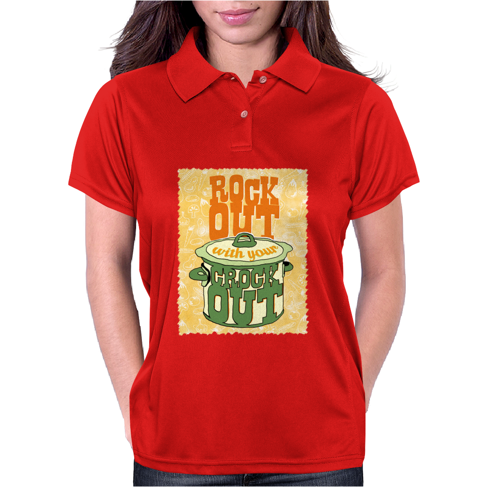 Rock Out With Your Crock Out Womens Polo