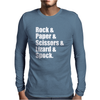 Rock Paper Scissors Lizard Spock Mens Long Sleeve T-Shirt