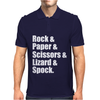 Rock Paper Scissors Lizard Spock Mens Polo