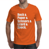 Rock Paper Scissors Lizard Spock Mens T-Shirt