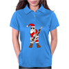 Rock Star Santa Claus Father Christmas Womens Polo