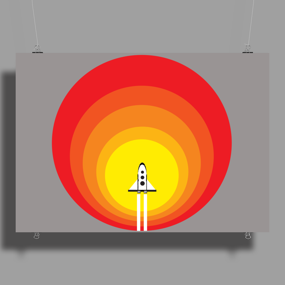 Rocket ship and the sunspot Poster Print (Landscape)