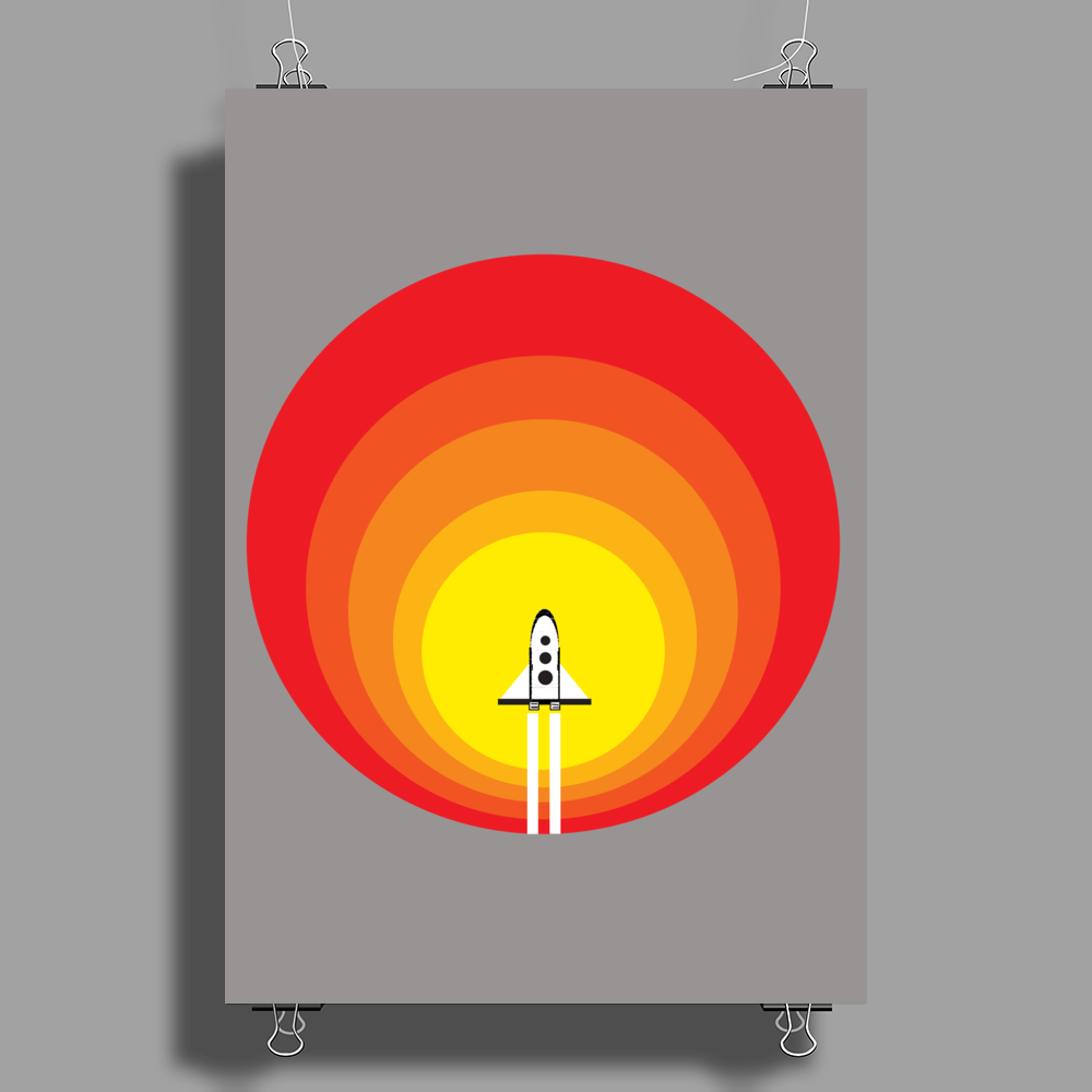Rocket ship and the sunspot Poster Print (Portrait)