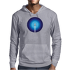 Rocket ship flies past the Blue Planet Mens Hoodie