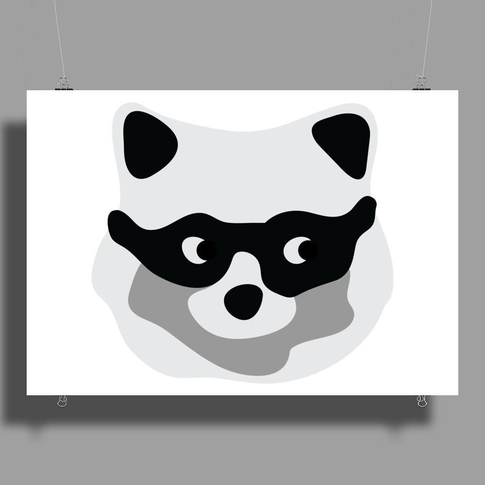 Rogue Racoon Poster Print (Landscape)