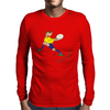 Romania Rugby Back World Cup Mens Long Sleeve T-Shirt