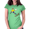 Romania Rugby Back World Cup Womens Fitted T-Shirt