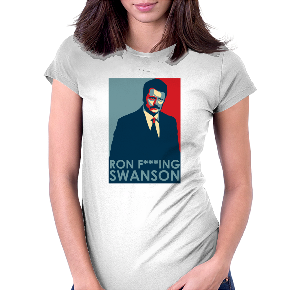 Ron Swanson President Parks Womens Fitted T-Shirt